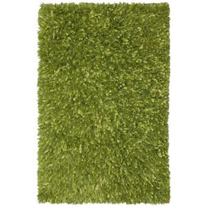 Green Blue Shimmer Shag 30-Inch x 50-Inch Rug