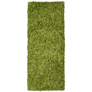 Green Blue Shimmer Shag 2 Ft. x 5 Ft. Runner