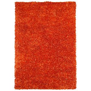 Orange Shimmer Shag 4 Ft. x 6 Ft. Rug