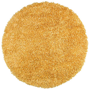 Yellow Shimmer Shag 5 Ft. x 5 Ft. Round Rug