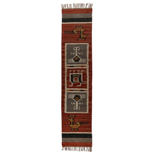 Tribal 13 x 72 In. Flat Weave Table Runner