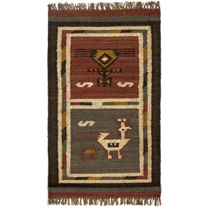 Brick Hacienda Tribal 21-Inch x 34-Inch Rug