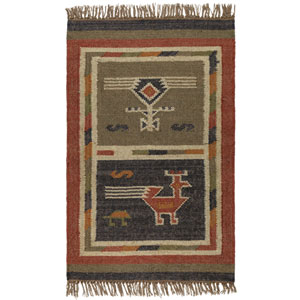 Blue Hacienda Tribal 21-Inch x 34-Inch Rug