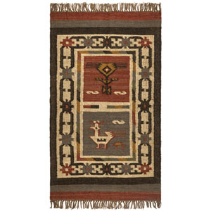 Brick Hacienda Tribal 30-Inch x 50-Inch Rug