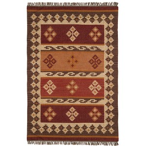 Hacienda Burgundy Rectangular: 5 Ft. x 8 Ft. Rug