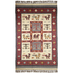 Hacienda Tribal Off White Rectangular: 5 Ft. x 8 Ft. Rug