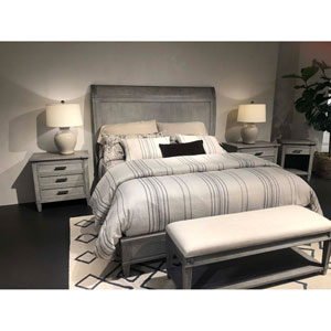Willow Pewter King Panel Bed