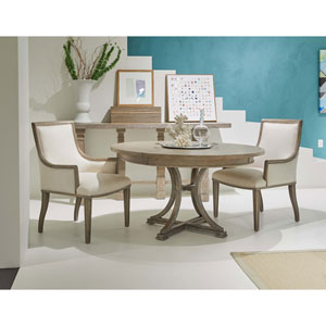 Willow Burlap 54-Inch Round Dining Table