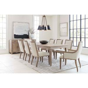 Willow Burlap Rectangular Dining Table
