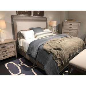 Willow Burlap Upholstered King Bed