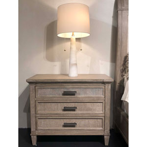 Willow Burlap Large Nightstand