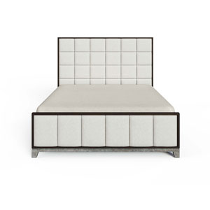 Horizon Flannel Upholstered King Bed