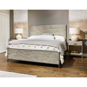 Cameron Raw Silk King Panel Bed