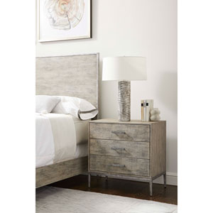 Cameron Raw Silk Nightstand