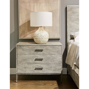Cameron Raw Silk Large Nightstand