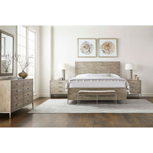 Cameron Hammered Pewter Bed End Bench