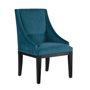 Diana Dark Teal Velvet Wing Chair