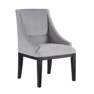 Diana Grey Velvet Wing Chair