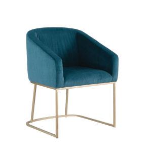 Scarlett Dark Teal Velvet Tub Chair