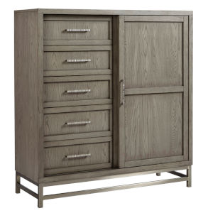 Venice Grey Dressers and Chests with Five Drawers and One Door