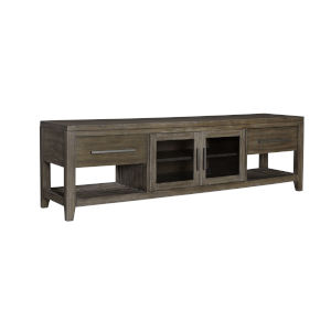 Bravo Brown 80-Inch Entertainment Console with Two Drawers and Two Doors