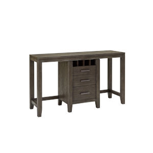 Brown Console Table with Two Cafe Stools