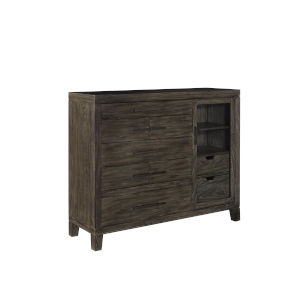 Bravo Brown Seven Drawer and One Door Chest with LED Light