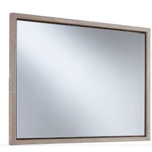 Podium White Landscape Mirror