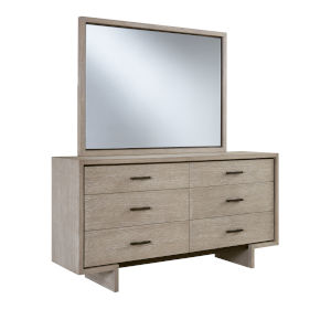 Podium White Six Drawer Dresser