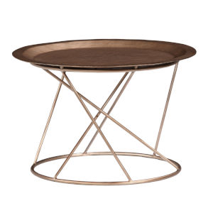 Daria Copper Round 13-Inch High End Table