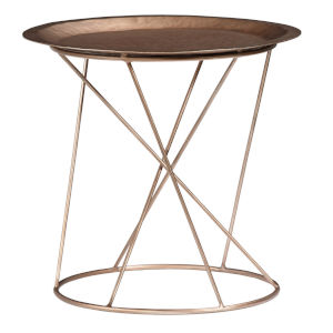 Daria Copper Round 19-Inch High End Table
