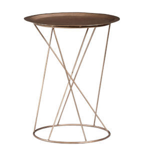 Daria Copper Round 25-Inch High End Table