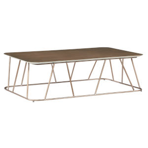 Daria Copper Rectangular Wire Cocktail Table