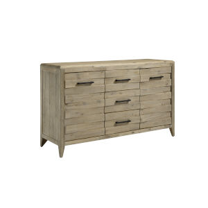 Casablanca Brown Sideboard with Three-Drawers Two-Door