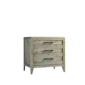 Casablanca Brown Three-Drawer Nightstand