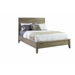 Casablanca Brown Queen Sized Horizontal Slat Panel Bed