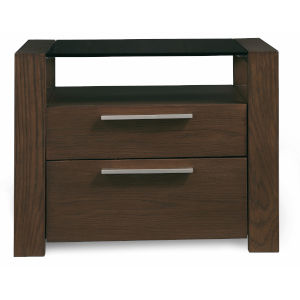 Montreal Brown Two Drawer Night Stand