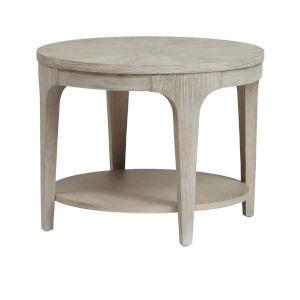 Alexandra White Round End Table