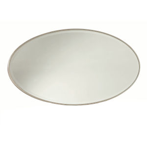 Alexandra White Oval Mirror