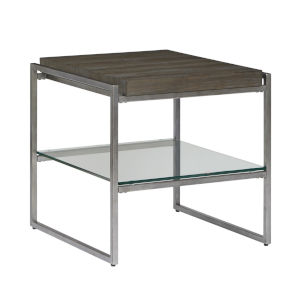 Thiago Brown Rectangular End Table