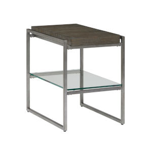 Thiago Brown Rectangular Chairside Table