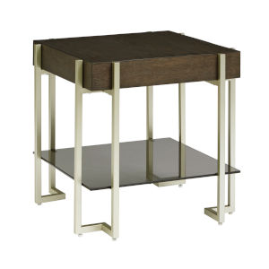 Arkell Brown Square End Table