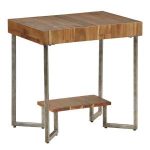 Dawson Brown Rectangular Chairside Table