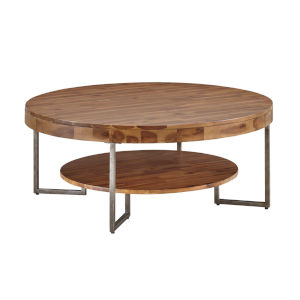 Brown Round Cocktail Table