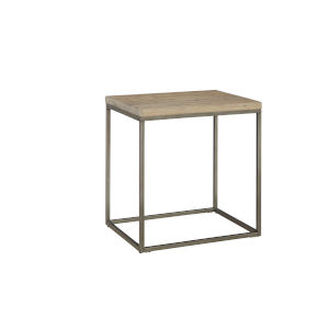 Julien Rectangle End Table with Acacia Wood Top