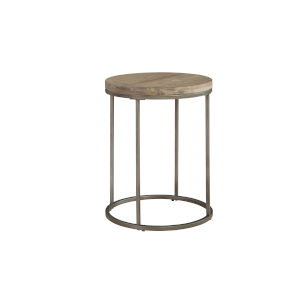 Julien Round End Table with Acacia Wood Top