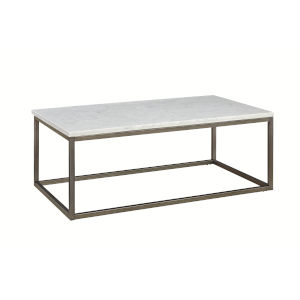 Julien Rectangle Coffee Table with White Marble Top