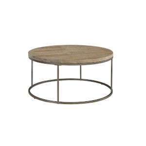 Julien Round Coffee Table with Acacia Wood Top