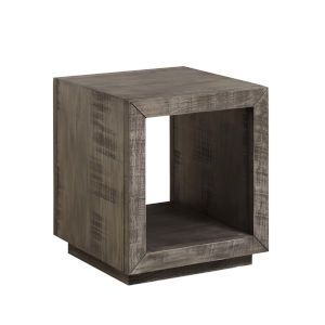 Muse Grey Rectangular End Table