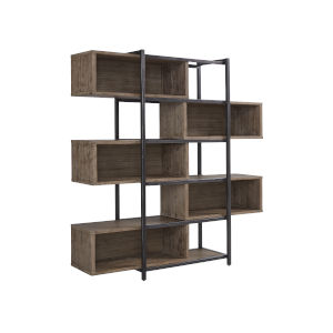 Slade Natural Bookcase with Five Compartments